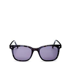 Le Specs Luxe Men's Le Saloon Square Sunglasses, 51mm  - Midnight Tortoise/Midnight