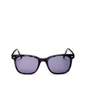 Luxe Le Specs Luxe Men's Le Saloon Square Sunglasses, 51mm  - Midnight Tortoise/Midnight