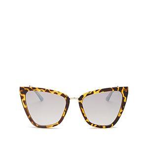 Quay Women's Reina Cat Eye Sunglasses, 51mm  - Female - Tortoise/Brown