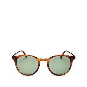 Garrett Leight Men's Clune Round Sunglasses, 48mm  - Male - Tortoise/Green