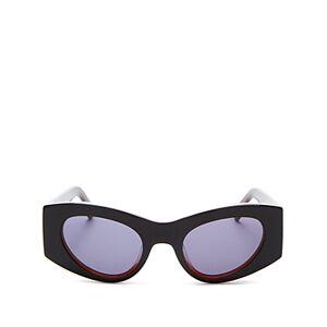 Luxe Le Specs Luxe Women's Extempore Cat Eye Sunglasses, 49mm  - Black/Honey Tortoise/Honey Tort/Smoke Solid