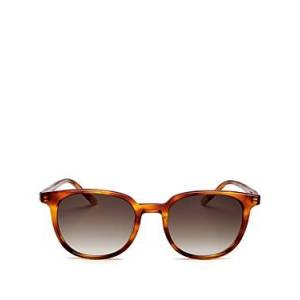 Le Specs Luxe Unisex Nomad Round Sunglasses, 51mm  - Unisex - Vintage Tortoise/Khaki Gradient