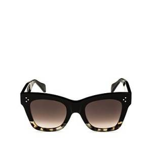Celine Women's Cat Eye Sunglasses, 50mm  - Female - Black/Gradient Brown