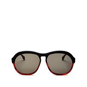 Luxe Le Specs Luxe Unisex Burnout Aviator Sunglasses, 58mm  - Black Honey Tortoise/Khaki Solid