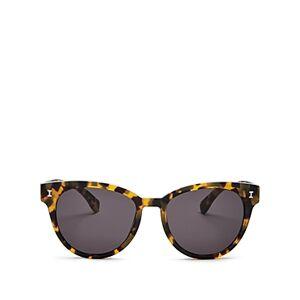 Illesteva Women's York Cat Eye Sunglasses, 55mm  - Female - Tortoise/Gray