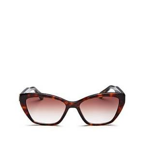 Chloe Women's Willow Square Sunglasses, 54mm  - Female - Tortoise/Gradient Purple
