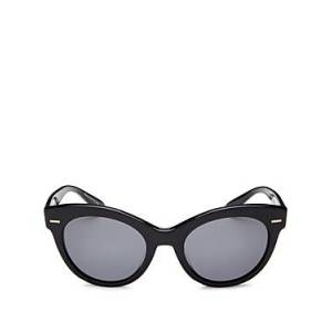 Oliver Peoples The Row Women's Georgica Polarized Cat Eye Sunglasses, 53mm  - Female - Black/Gray Polarized