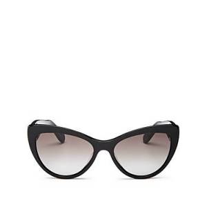 Salvatore Ferragamo Women's Cat Eye Sunglasses, 56mm  - Female - Black/Smoke Gradient