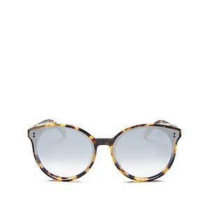 Illesteva Women's Helen Cat Eye Sunglasses, 65mm  - Female - Tortoise/Silver Gradient Mirror