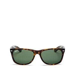 Ray-Ban Unisex Polarized Square Sunglasses, 58mm  - Unisex - Tortoise/Green Polarized - Size: 58mm