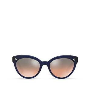 Oliver Peoples Women's Roella Mirrored Cat Eye Sunglasses, 55mm  - Female - Denim/Sunset Gradient Mirror