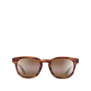 Maui Jim Women's Koko Head Polarized Mirrored Round Sunglasses, 48mm  - Female - Tortoise/Brown