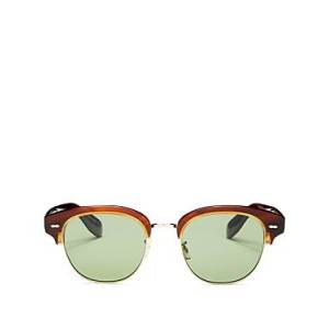 Oliver Peoples Men's Polarized Square Sunglasses, 52mm  - Male - Tortoise/Jade Polarized