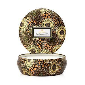 Voluspa Japonica Baltic Amber 3 Wick Candle in Decorative Tin  - Brown