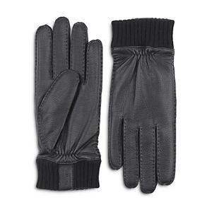 Hestra Vale Leather Gloves  - Black - Size: Medium