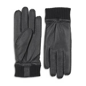 Hestra Vale Leather Gloves  - Black - Size: 8