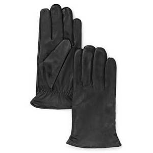 The Men's Store at Bloomingdale's Cashmere Lined Leather Gloves - 100% Exclusive  - Male - Black - Size: Large