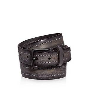 Allsaints Men's Distressed Leather Belt  - Male - Anthracite Grey - Size: 40