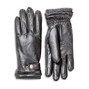 Hestra Utsjo Top-Snap Leather Gloves  - Black - Size: 9
