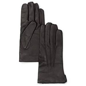 The Men's Store at Bloomingdale's Cashmere Lined Leather Gloves - 100% Exclusive  - Black - Size: Medium