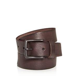 Allsaints Men's Leather Belt  - Male - Bitter Brown - Size: 32
