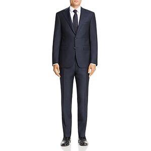 Canali Capri Melange Twill Solid Slim Fit Suit  - Male - Navy - Size: 50L IT / 40L US