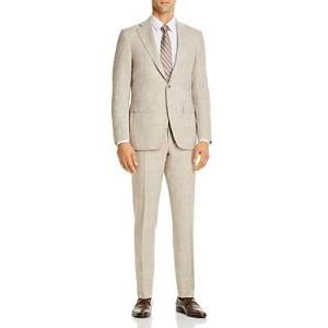 Canali Capri Melange Slim Fit Suit  - Male - Natural - Size: 60 IT / 50 US