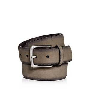 Allsaints Men's Nubuck Leather Belt  - Male - Anthracite Grey - Size: 38