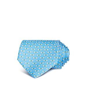 Salvatore Ferragamo Elephant Silk Classic Tie  - Azure