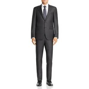 Canali Capri Sharkskin Slim Fit Suit  - Charcoal - Size: 52L IT / 42L US