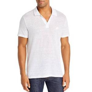 Vilebrequin Linen Jersey Polo Shirt  - Male - White - Size: Medium