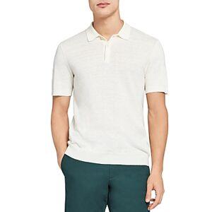 Theory Slim Fit Polo  - White - Size: Medium