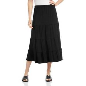 Karen Kane Tiered Midi Skirt  - Female - Black - Size: Large