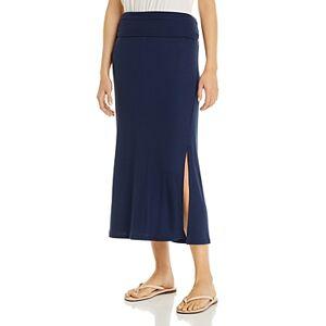 Three Dots Pull-On Maxi Skirt  - Female - Night Iris - Size: Large