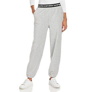 alexanderwang.t Logo Waist Stretch Corduroy Pants  - Female - Heather Grey - Size: Large