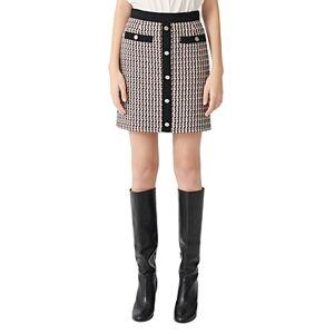 Maje Jivi Tweed Mini Skirt  - Female - Multicolor - Size: Large