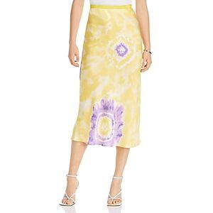 Lini Melanie Printed Midi Skirt - 100% Exclusive  - Female - Yellow/Purple - Size: Large
