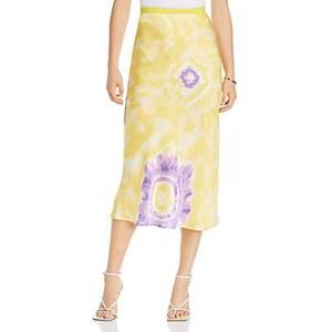 Lini Melanie Printed Midi Skirt - 100% Exclusive  - Female - Yellow/Purple - Size: Large