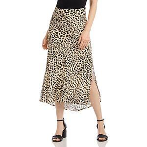 Karen Kane Animal Print Bias-Cut Midi Skirt  - Female - Cheetah - Size: Large