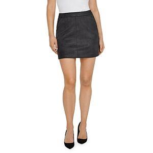 Vero Moda Donna Faux Suede Mini Skirt  - Female - Asphalt - Size: Large