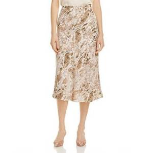 cupcakes and cashmere Linda Printed Slip Skirt  - Birch Whit - Size: Large