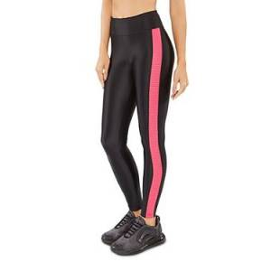 Koral Dynamic Duo Mesh-Inset Leggings  - Female - Black/Infared - Size: Extra Large