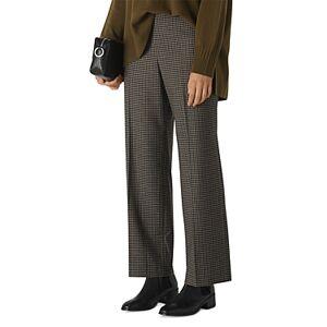 Whistles Eleni Houndstooth Wide-Leg Pants  - Female - Multicolor - Size: 16 UK/12 US
