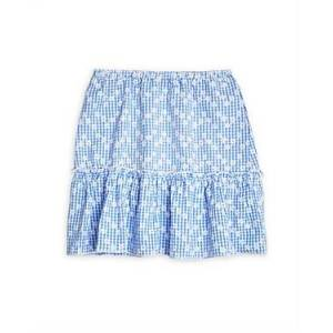 Aqua Girls' Daisy Printed Flounce Skirt, Big Kid - 100% Exclusive  - Female - Blue/White - Size: Large