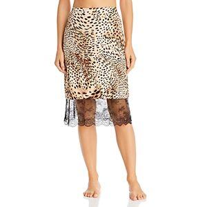 Natori Infinity Lace Trim Slip Skirt  - Female - Leopard Print - Size: Large