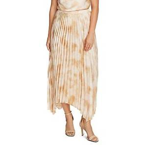 Vince Camuto Pleated Tie-Dye Skirt  - Female - Lt Stone - Size: Large