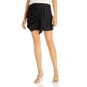Aqua Faux Sarong Mini Skirt - 100% Exclusive  - Female - Black - Size: Large
