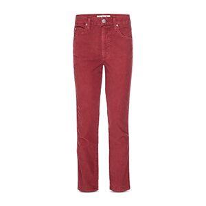 Amo Chloe Cropped Corduroy Pants  - Female - Washed Red - Size: 23