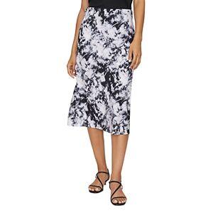 Sanctuary Printed Midi Slip Skirt  - Female - Dark Tie Dye - Size: Large