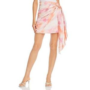 Wayf Perry Faux Wrap Mini Skirt  - Female - Passion Tie Dye - Size: Large